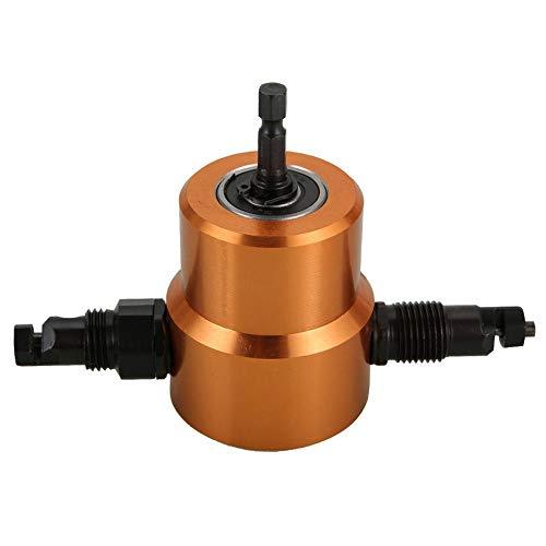 Cortador de metal para chapa de doble cabeza 360 ° versátil taladro para roedores herramienta para la reparación de coche DIY