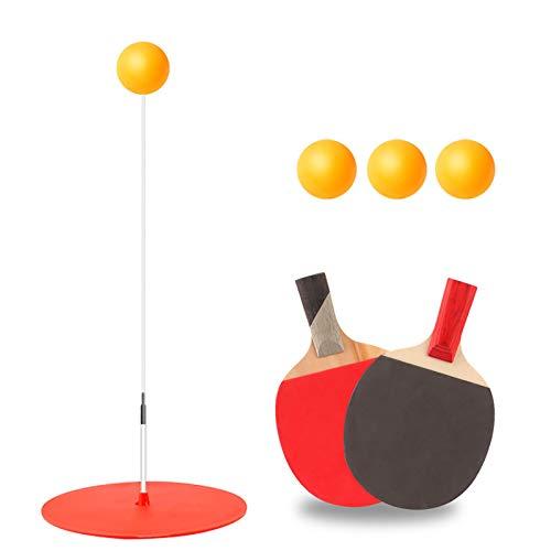 Super-ZS Entrenador De Tenis De Mesa, 90cm de Altura 3 × Ping Pong 2 × Raqueta para prevenir la miopía Juguete de Entretenimiento Familiar