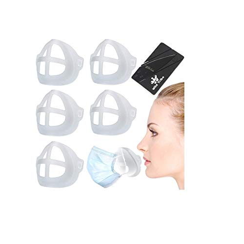 5 Pack Plastic 3D Inner Support Bracket for Mas.k Cool Lipstick Protector Stand Nose Protection Lipstick