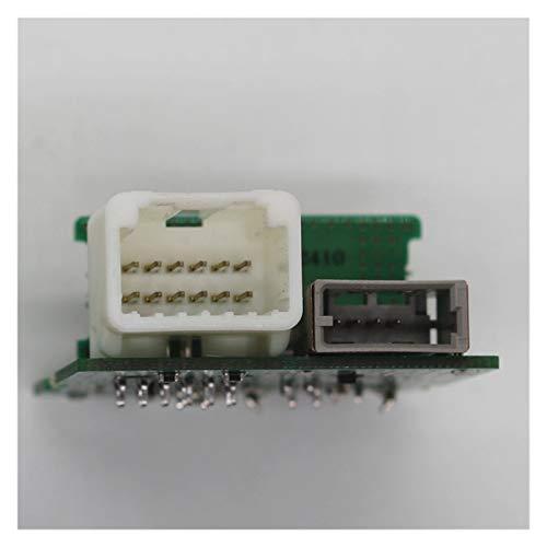 MULANGSTOR 961203x000 Jack Assy AUX y USB Fit para Hyundai Accent Solaris Elantra IX35 SPORTAGE USB Reader iPod Aux Port Port Adapter Assy96110 96190 Partes internas (Color : White)