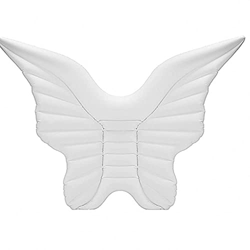 N\C Anillo de natación Cama Flotante Inflable ala de ángel Fila Flotante Inflable Mariposa Drenaje Flotante Anillo de natación Cojín de Aire LKWK