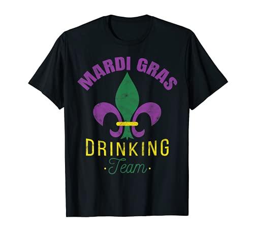 Mardi Gras Drinking Team - Gorro de mascarada Camiseta