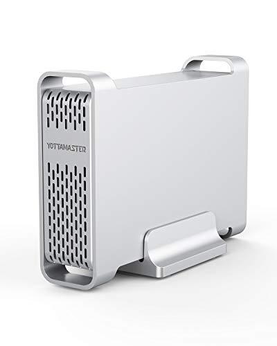 """[ UASP e SATA3.0 ] Yottamaster Alluminio Type-C Case Esterno per Disco Rigido 2.5"""" per SATA HDD/SSD 4TB Windows/Mac/Linux"""