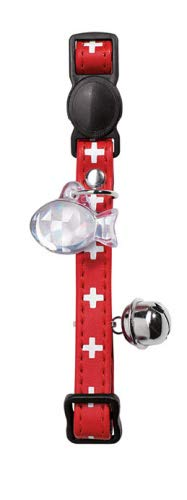 HUNTER SWISS Katzenhalsband, Kunstleder, Sicherheitsverschluss, one-size, rot