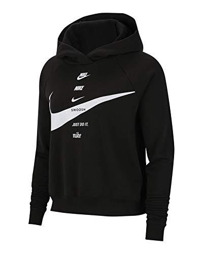 Nike Felpa con Cappuccio Donna Nera CU5676011 Nero XL
