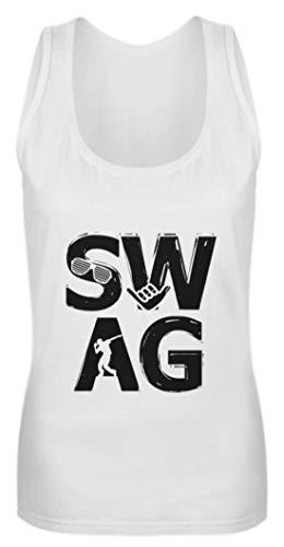 Swag Hip-Hop Musik Motiv - Camiseta de tirantes para mujer, diseño de radiocasete Blanco XXL