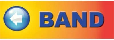 Band Directional Banner Blue Background//White Lettering