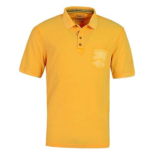 hajo Polo & Sportswear Herren Washer-Poloshirt mit strukturierter Oberfläche
