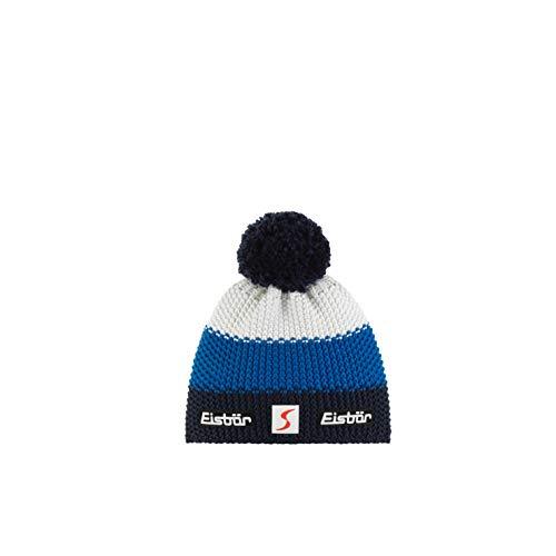 Eisbär - Berretto Unisex con Pompon Mü Sp, Unisex - Adulto, Cappello, 403346, Cobalto/Blu/Bianco, Taglia Unica