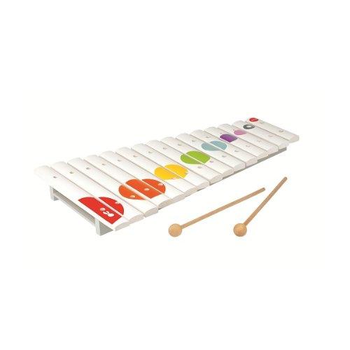 Janod - 07605 - Jouet en Bois- Instrument de Musique - Grand Xylo Bois Confetti - 15 Tons - 41,50 cm