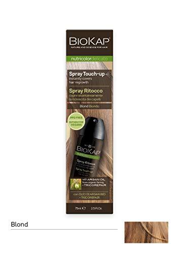BIO KAP Nutricolor Delicato Spray Ritocco, Spray capelli, Ritocco per la ricrescita capelli, Leggero e non macchia, Trattamento capelli con effetto naturale e omogeneo, 75 ml (Biondo)