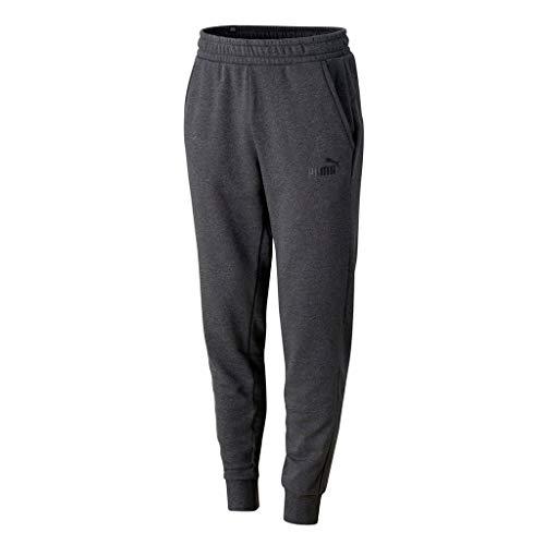 PUMA Herren ESS Logo Pants TR cl Jogginghose, Dark Gray Heather, S