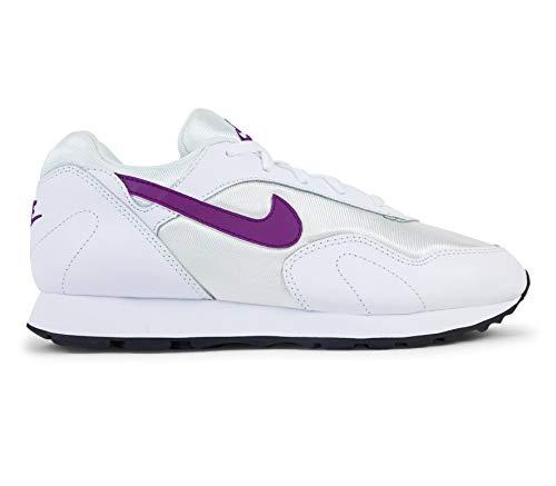 Nike W Outburst, Scarpe da Ginnastica Basse Donna, Multicolore (White/Bright Grape/Black 001), 41 EU