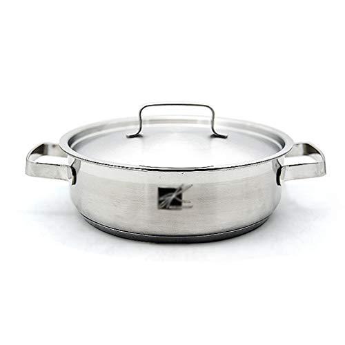 Pot en acier inoxydable, pot portable Pot domestique 22CM Poulet à marmite Pot cuit à la vapeur Pot à nouilles (taille : 22CM)