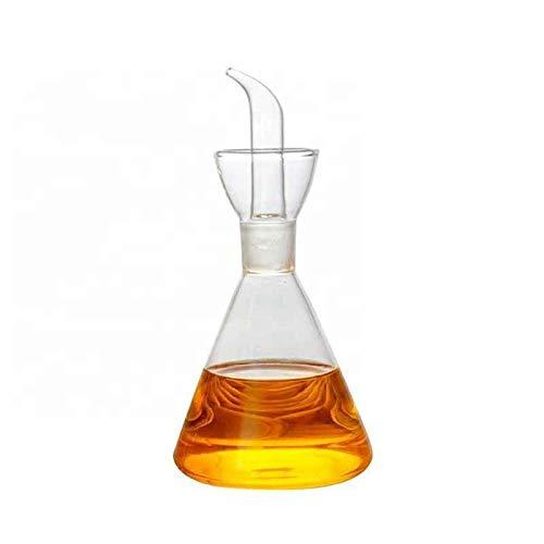 Dispensador de Aceite y vinagre. vinagrera aceitera , Aceitera de 500 ml de Capacidad de Vidrio Transparente. Sistema antigoteo. También Ideal para aceites condimentados o especiados