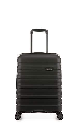 Antler Juno II Monos, Durable & Lightweight Hard Shell Suitcase - Colour: Black, Size: Cabin