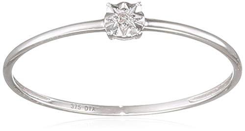 Naava Women White Diamond Engagement Ring - Size N PR12847W-N