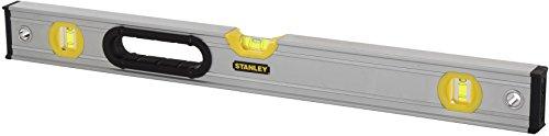 Stanley FatMax Wasserwaage Pro (magnetisch, 200 cm Länge, 1 vertikale Libelle, 1 horizontale Libelle Bi-Material) 0-43-679