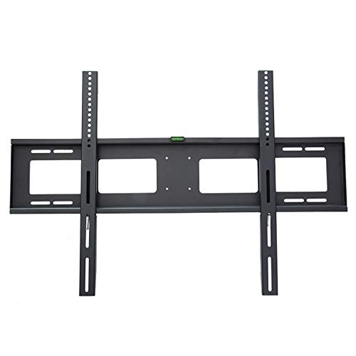 SHIJINHAO Fixed TV Wall Bracket, Suitable For 60-100 Inch Flat And Curved Panel LED, Plasma, LCD TVs, Compatible With VESA Within 900x600mm, 180kg Weight Capacity (Color : Black, Size : 94x64cm)