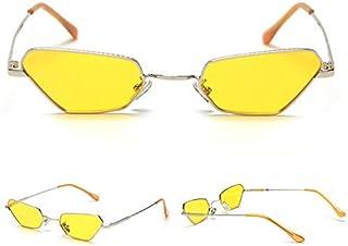 XINGYU - Gafas de Sol de Ojo de Gato pequeñas de Moda para Mujer Gafas de Sol Retro con Montura de Metal para Mujer Lente Transparente Uv400 Marco de Metal para Hombre para Conducir Pesca