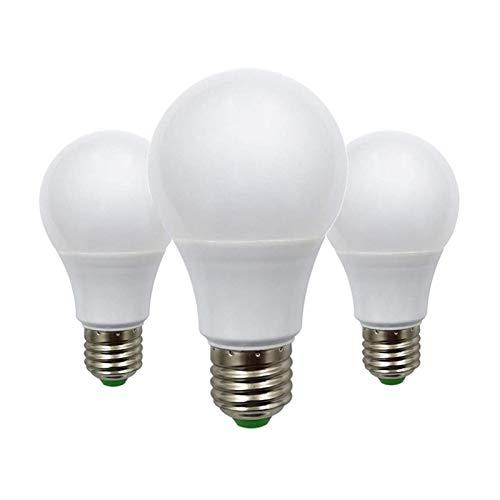 Lot de 3 ampoules LED à vis Edison E27 5 W équivalent à 50 W A60 ES, culot E26 E27 12 V basse tension – Idéal pour éclairage solaire hors réseau marine bateau camping-car Blanc chaud 2700 K