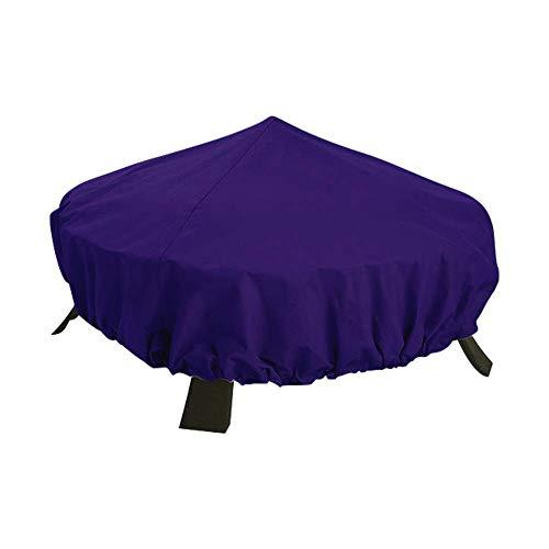 QEES Feuerstelle-Abdeckung Wasserdichte Gartengrillabdeckung Robuster, runder Heizungsschutz für den Außenbereich für jede Wetterbedingung (Purple)