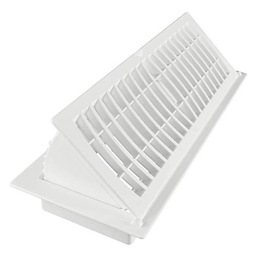 Imperial Pop-Up Floor Register, 4 x 12-Inch, White