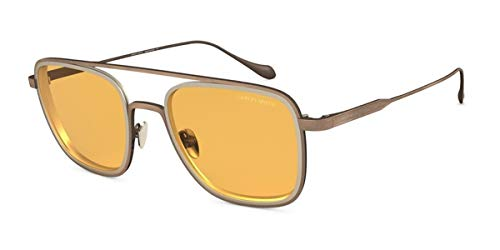 Giorgio Armani 0AR6086 Gafas de sol, Brushed Bronze/Mt Pale Gold, 53 para Hombre