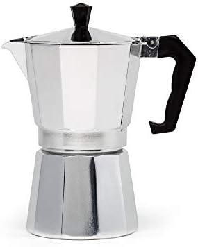Primula - Cafetera de aluminio para café espresso de cuerpo completo (6 tazas)