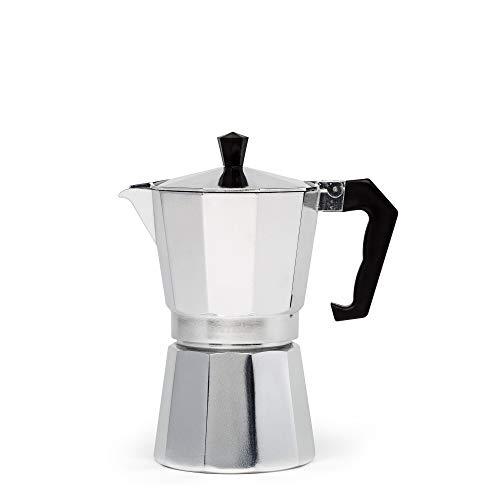 Primula Aluminum Espresso Maker - Aluminum - For Bold, Full Body Espresso - Easy to Use - Makes 6 Cups (PES-3306)