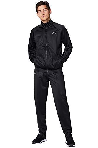 Kappa Trainingsanzug Villos für Herren, bequemer Tracksuit für Sport, Freizeit und Reisen, die Jogginghose & Trainingsjacke sind atmungsaktiv, schnell trocknend, Caviar, Größe L