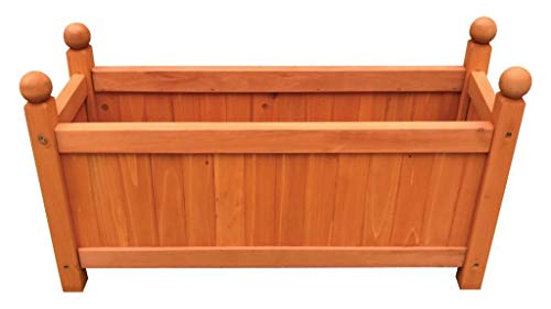 MYGARDEN Wooden Planter Medium, Ideal for Plants and Flowers, 60X20X34cm Approx