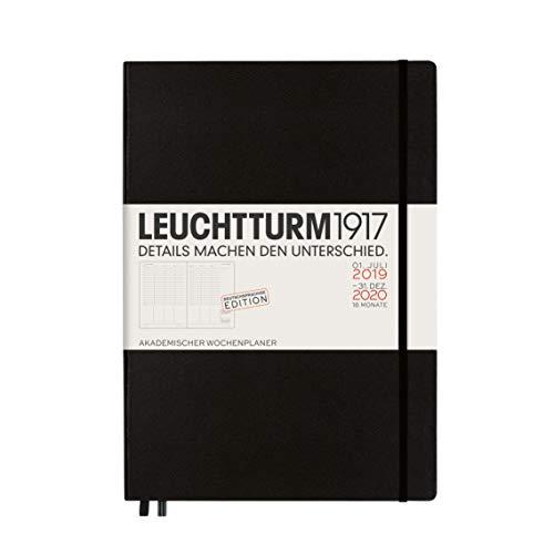 LEUCHTTURM1917 360066 Akademischer Wochenplaner Master (A4+) 2020, 18 Monate, Schwarz, Deutsch