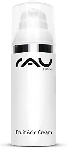 RAU Fruit Acid Cream (1.7 Fl.oz) - Best Moisturizer With Fruit Acids (AHA, BHA), Hyaluronic Acid, Vitamins & Oils - Ideal for Mature, Impure, Pigmented, Pale or Keratinized Skin