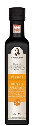 Dr. Budwig Omega-3 Zellgold - Das Original - Reformprodukt des Jahres 2020! Mit verbesserter Rezeptur versorgt Sie Dr. Budwig Omega-3 Zellgold Für die Generation 50plus mit gleich drei wichtigen Omega-3-Fettsäuren: DHA, EPA und ALA, 250 ml
