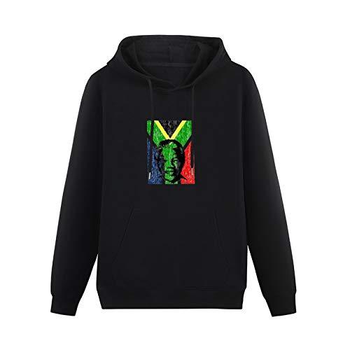 Teenager Hoodie Att97 Nelson Mandela Long Sleeve Hooded Pullover Sweatshirts Black L