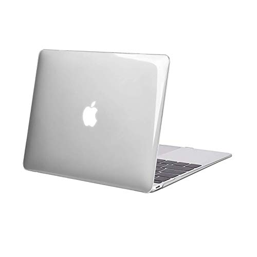 MOSISO Plastic Hard Shell Case Cover Compatible with MacBook 12 Inch with Retina Display (Model A1534, Release 2017 2016 2015), Crystal Clear
