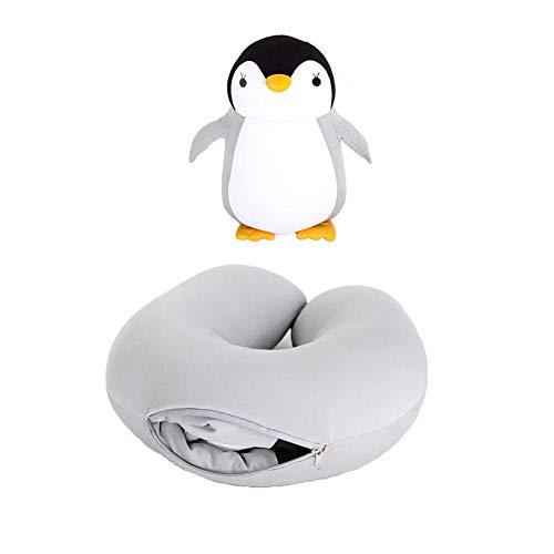 U-förmiges Plüschkissen, verformbares Pinguin-Reisekissen, niedliches Karikatur-Tierreise-Nackenschutzkissen, Nackenstützschläfchen-Kissen