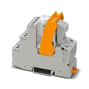 PHOENIX CONTACT RIF-2-RSC-LDP-24DC/4X21/EX - Módulo de relé premontado con zócalo de relé, conexión a rosca, voltaje de entrada de 24 V CC, 10 unidades