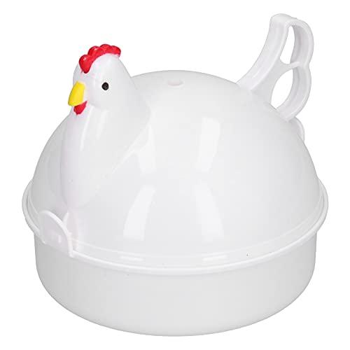 Eierkocher, 4 Eier Hühnchen-förmiger Hitzebeständiger Mikrowellen-Eierkocher Heimküchenbedarf