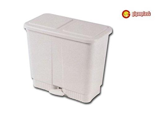 Giganplast Eco vuilnisbak met 2 bakjes, kunststof, 10 liter