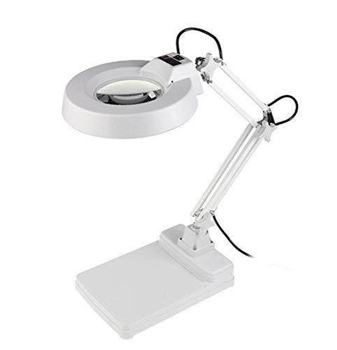 LHQ-HQ Lámpara de Mesa LED Lupa de Escritorio con una Lupa Compatible with Leer los Ancianos Mantenimiento electrónica Prueba 10X Tiempos
