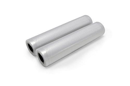 Folien für Folienschweißgerät, 2 Folienrollen BPA-frei, Sous Vide geeignet, individuell zuschneidbar, kochfest, wiederverwendbar