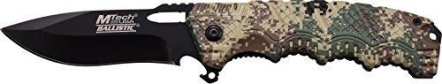 MTech USA Taschenmesser MT-A918 Serie, Messer DESIGNER STRUKTUR OPTIK Griff CAMO DESERT scharfes Jagdmesser, Outdoormesser 8,89 cm ROSTFREI Klinge, Klappmesser für Angeln/ Jagd