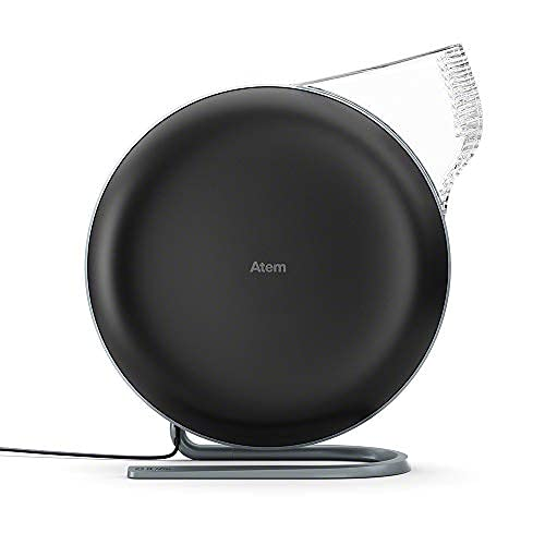 IQAir [Atem Desk Personal Air Purifier [HyperHEPA Filter, up to 150 sq.ft. coverage] Bacteria, Viruses, Airborne Germs, Allergens, Pets, Asthma, Pollen, Dust; Swiss Made (Black)