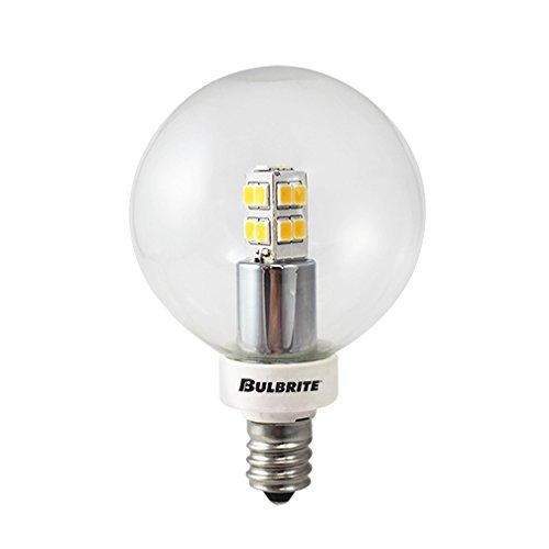 Bulbrite 770145 LED/G16/E12 2.5W LED G16 Globe Bulb, 25W Equivalent with Candelabra Base, Warm White