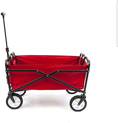QPP-CL Kompakter zusammenklappbares Falten im Freien Portable Utility Cart in rotem Bad Organizer Küchenorganisation Bar Warenkorb