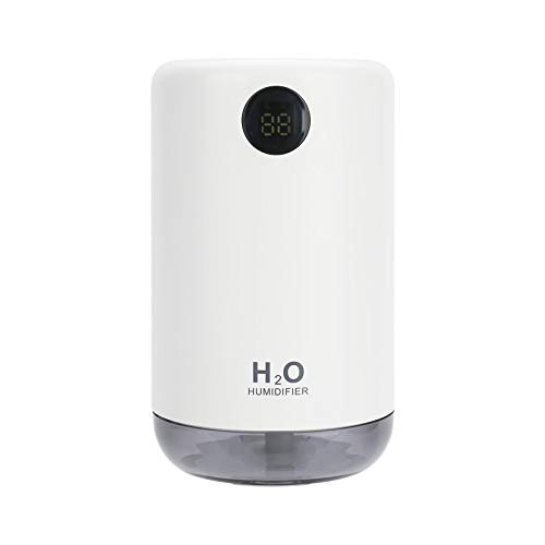 Humidificadores Difusor Aceites Esenciales Humidificador De Aire Portátil Difusor De Agua De Niebla Fría Ultrasónico Inalámbrico Recargable con Luz Led Blanca