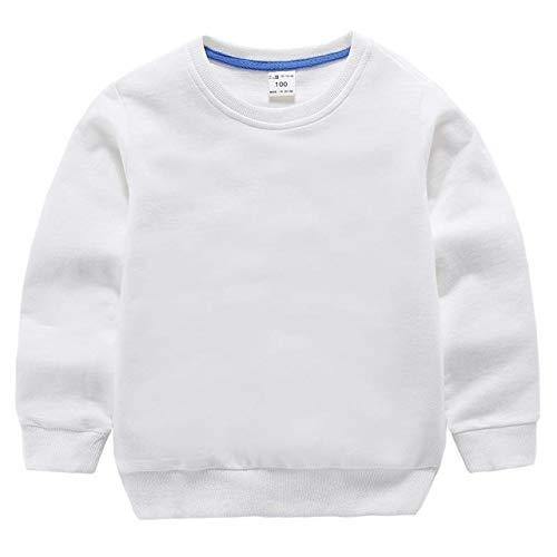 WANGYUEGUANG Nouveau 2020 Mode Bébé Garçons Filles Enfants Sweat À Manches Longues Pur Couleur Coton Cou Chemise Tenues Bébé