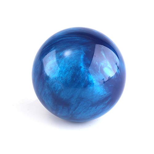 Marble Style Round Ball Gear Shift Knob with Adapters Universal Car Shift Knob Adapter Acrylic Stick Shift Knob Fit for Most Transmission Vehicles (Dark Blue)
